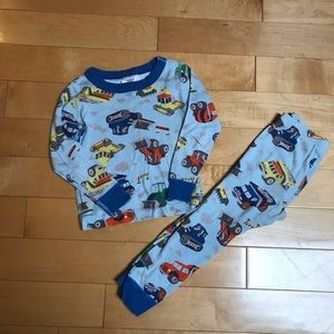 Hanna Andersson construction vehicles pajamas